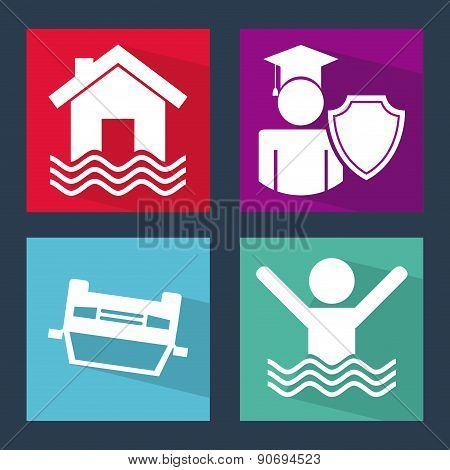 insurance design over gray  background vector illustration