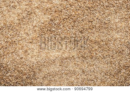 Roughly grind barley texture background