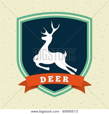 hunting design over pattern background vector illustration