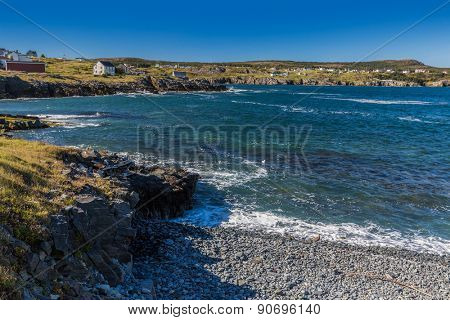 Shoreline along the community of Elliston on the Bonavista Peninsula in Newfoundland, Canada.