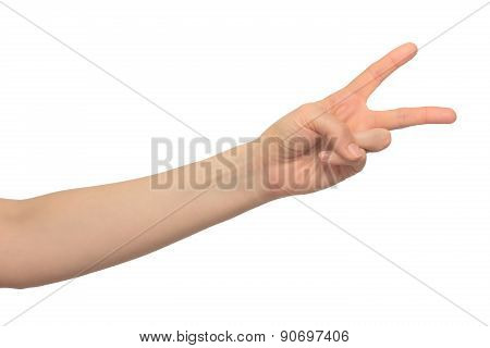 human hand shows gestures
