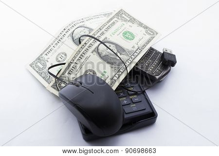 Pay One Dollar wound with a mouse in the table