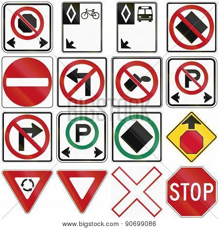 Common Traffic Signs In Canada