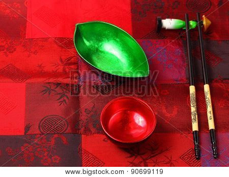 Traditional Vietnam Table Setting