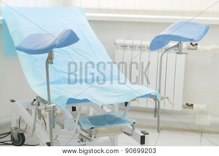 The image of a gynecological chair