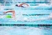 foto of swim meet  - Freestyle race  - JPG