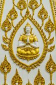 stock photo of budha  - The statue Budha statue in the town within Thailand - JPG