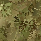 foto of camouflage  - Abstract  Military Camouflage Background Made of Geometric Triangles Shapes - JPG