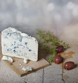 stock photo of kalamata olives  - Blue Cheese and Kalamata Olives - JPG