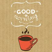 foto of morning  - Cartoon morning cup of coffee - JPG