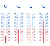 pic of degree  - Seasons measured in temperatures from 20 below 0 to 30 degrees Celsius European standard - JPG