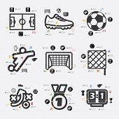 stock photo of offside  - football line infographic - JPG