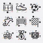 stock photo of offside  - football line infographic - JPG