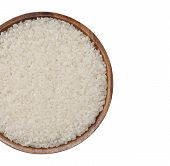 stock photo of rice  - Asian white rice or uncooked white rice - JPG