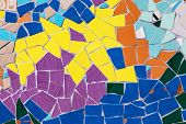 image of ceramic tile  - Ceramic glass colorful tiles mosaic composition pattern background - JPG