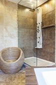 picture of tub  - Photo of the shower tub in the modern bathroom - JPG