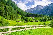 Постер, плакат: Alpine landscape in Zillertal Alps Austria