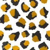 stock photo of leopard  - Leopard skin pattern - JPG