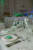 image of banquet  - Elegant table set up for a wedding banquet