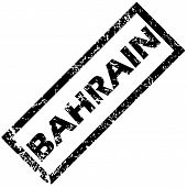 stock photo of bahrain  - Vector rubber stamp with name BAHRAIN - JPG