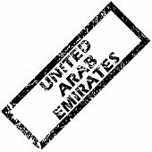 image of emirates  - Vector rubber stamp with name UNITED ARAB EMIRATES - JPG