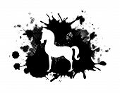 foto of paint horse  - horse design over white background vector illustration - JPG