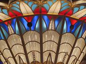 picture of chandelier  - A very large chandelier with different colors - JPG