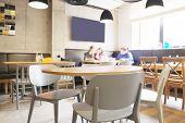 stock photo of restaurant  - Interior of modern restaurant - JPG