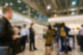 stock photo of social housing  - Generic trade show image with blurred defocusing  - JPG