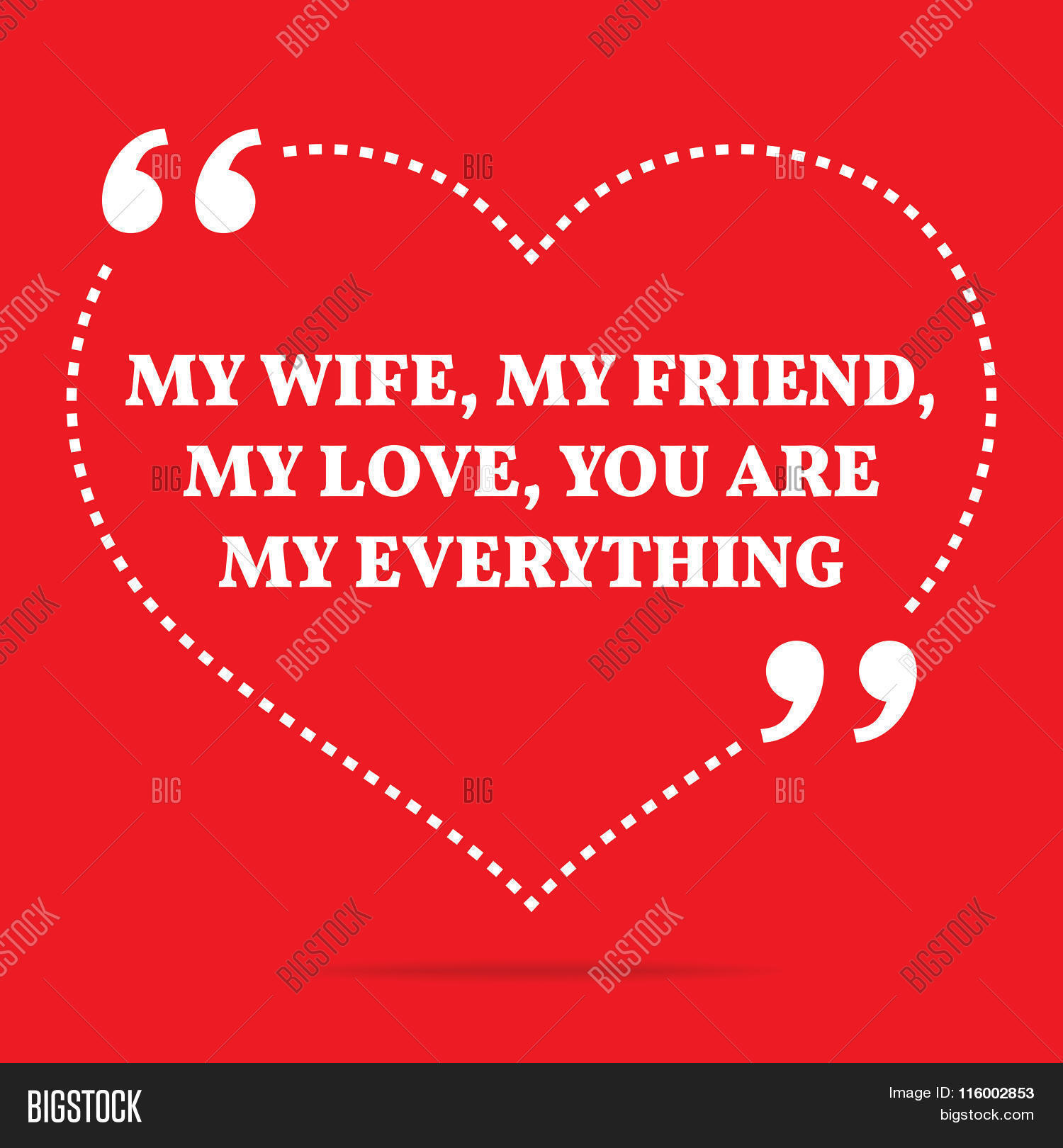 Download Inspirational Love Quote. My Wife Vector & Photo   Bigstock