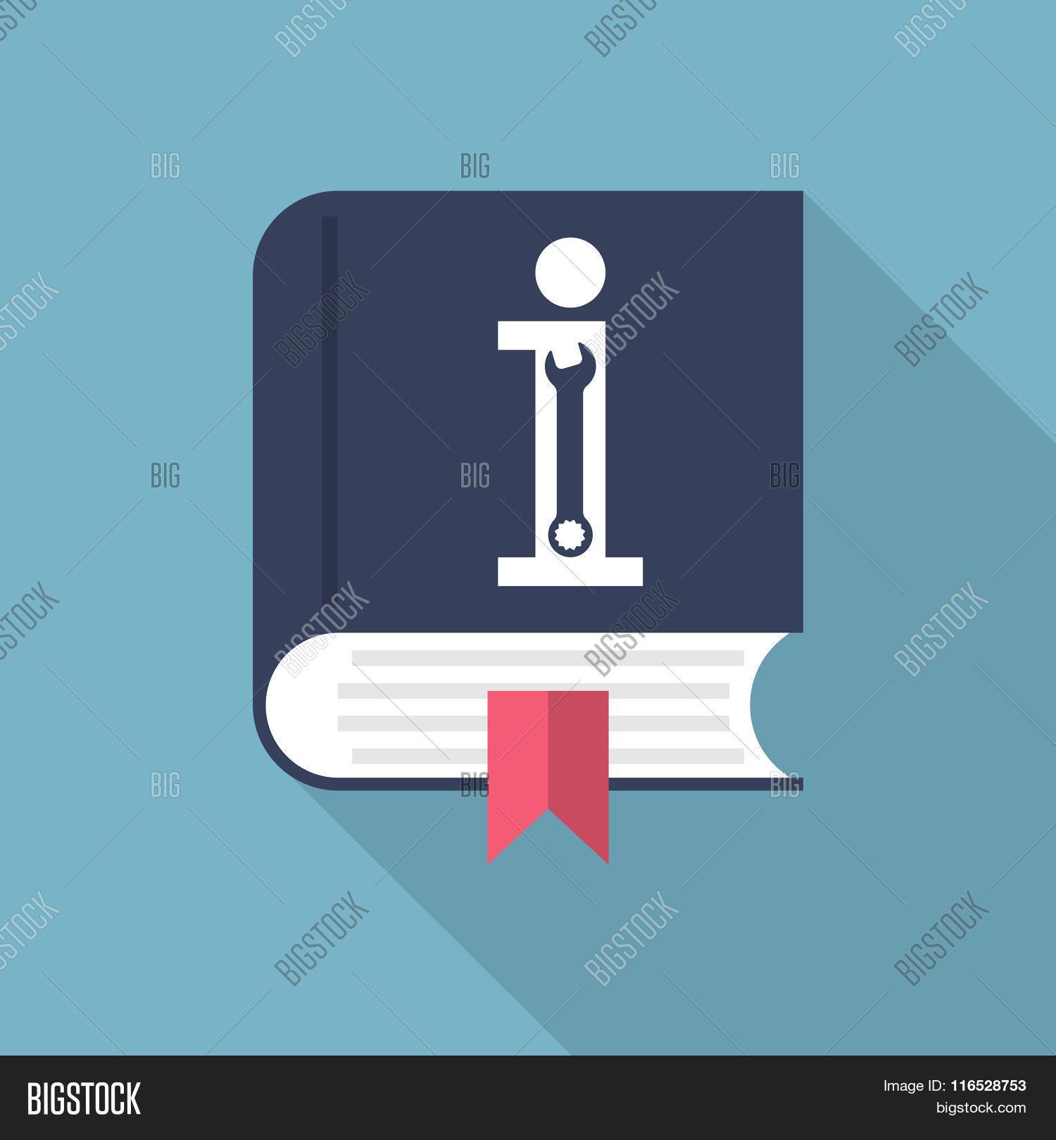 Manual book user manual icon vector photo bigstock for Vector canape user manual