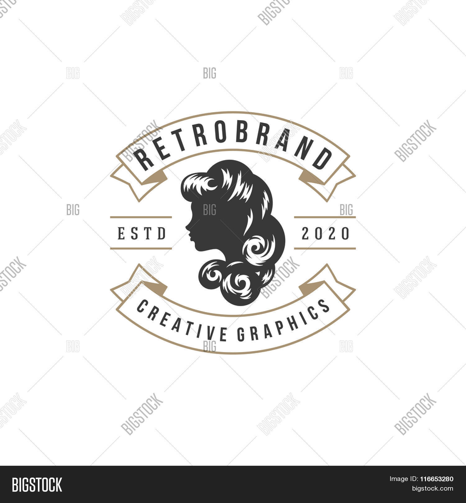 Beauty Salon Logo Vector Template For Label Badge Sign Or Advertising Barber