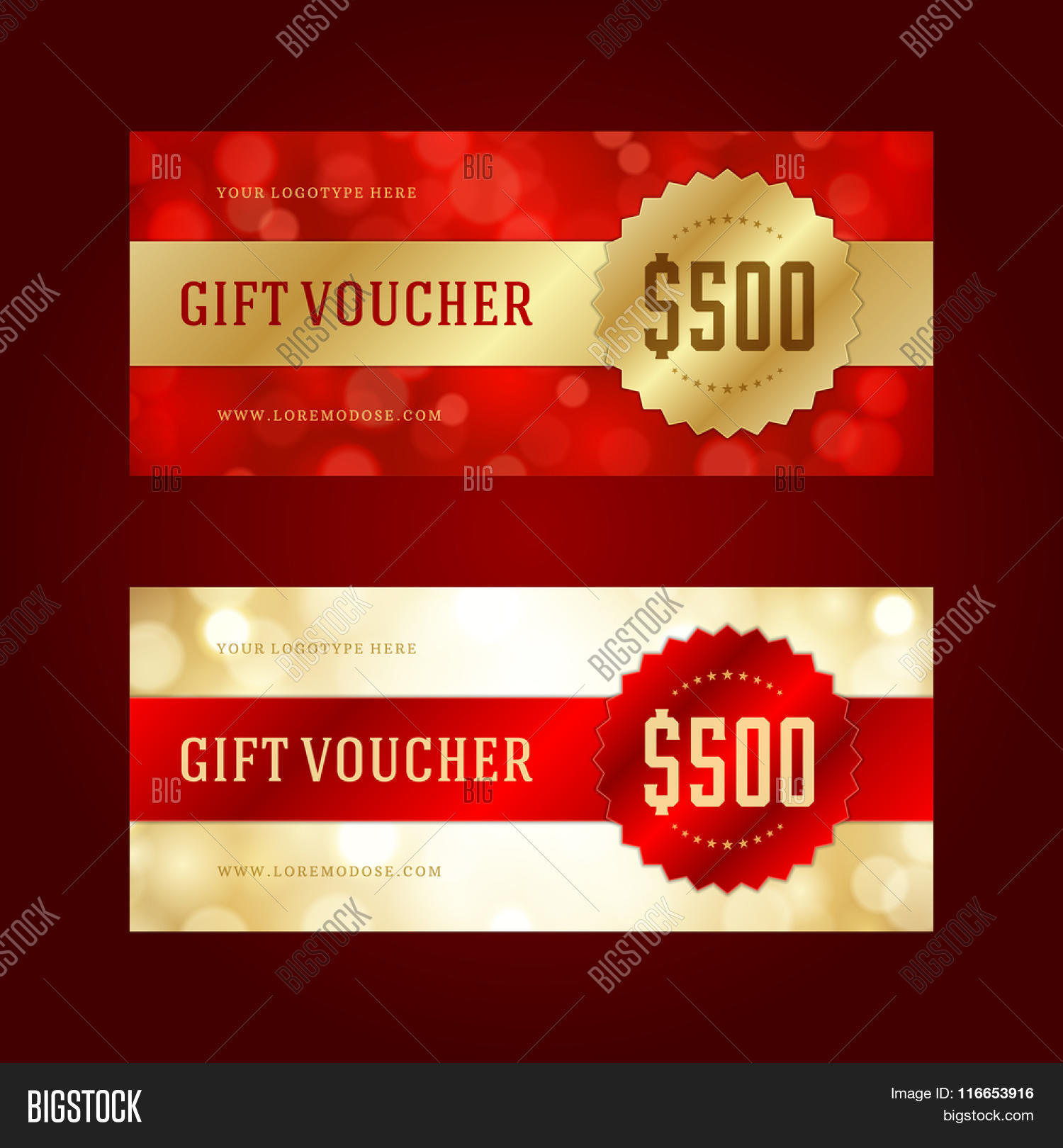 Gift voucher template design vector photo bigstock gift voucher template design and vintage style vector illustration voucher vector voucher template yadclub Choice Image
