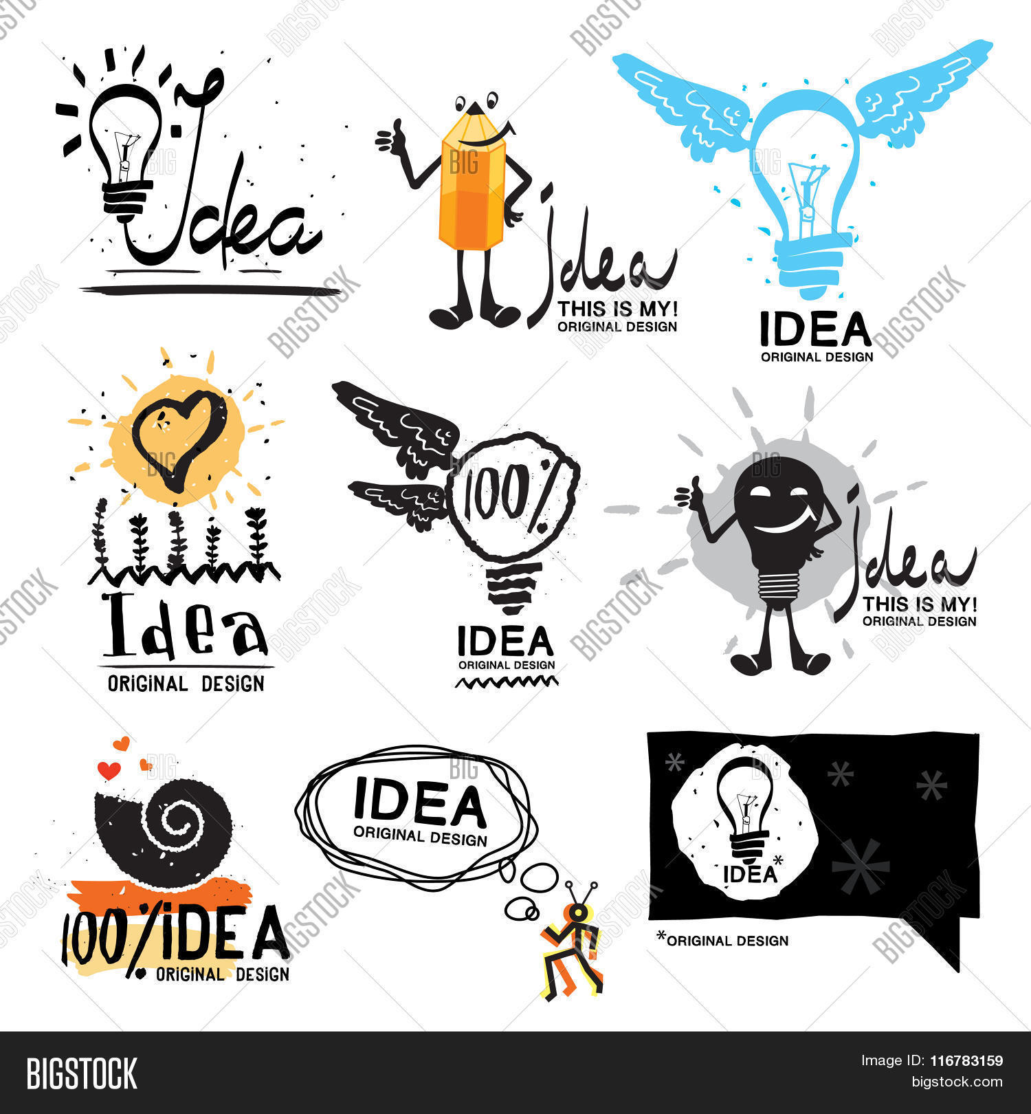 idea with logo symbol