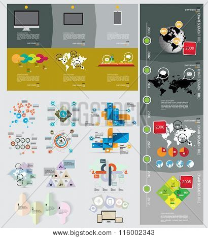 Vector of illustration infographic