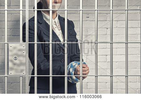 Woman prisoned in ward