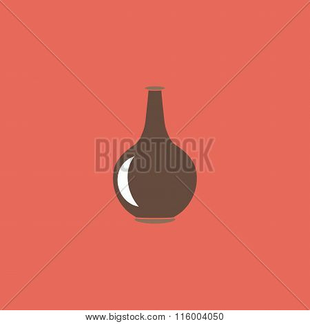 Amphora flat icon
