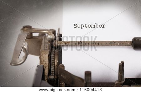 Old Typewriter - September