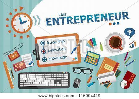 Entrepreneur Design Concept. Typographic Poster.