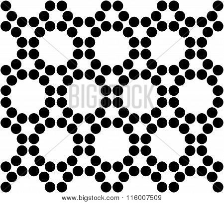 Vector modern seamless sacred geometry pattern circles black and white abstract