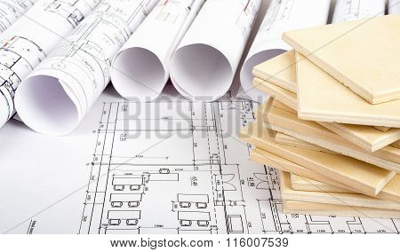 Tile on blueprint