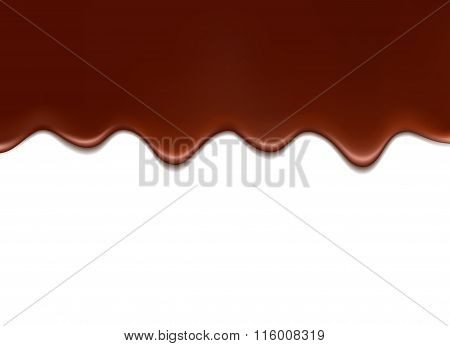 Melted Chocolate. Vector Illustration