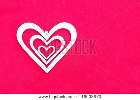 White Decorative Hearts Of Different Sizes