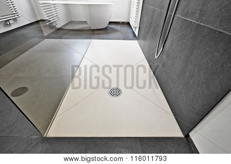 Corian Floor And Drain