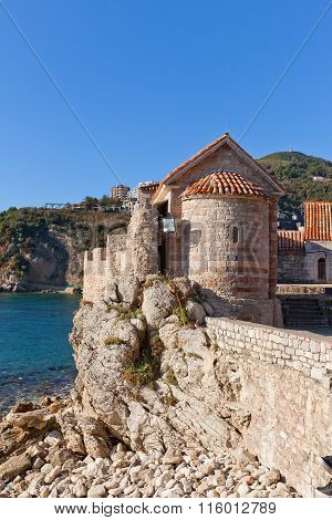 Church Of St Sabbas The Sanctified (12 C.) In Budva, Montenegro
