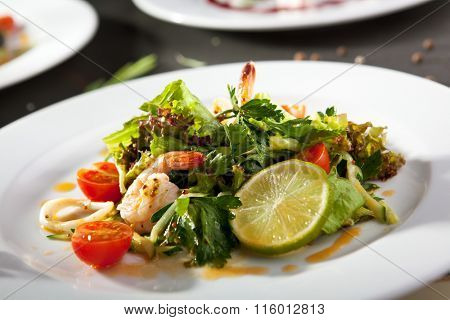 Shrimp and Calamari Salad