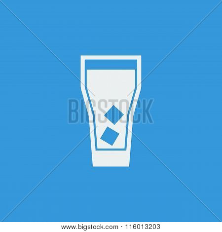 Highball Glass Icon On Blue Background