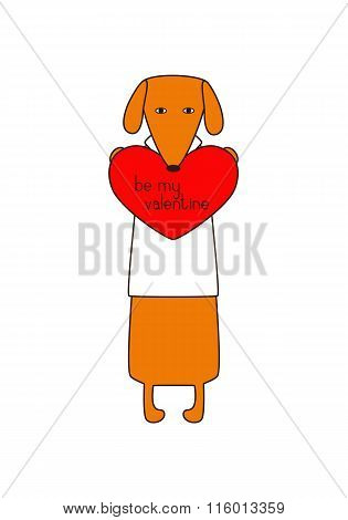 Be My Valentine Card With Dog
