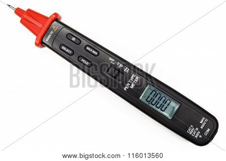 Pen Type Digital Multimeter Isolated On The White Background