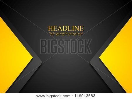 Bright contrast corporate background. Vector tech graphic design